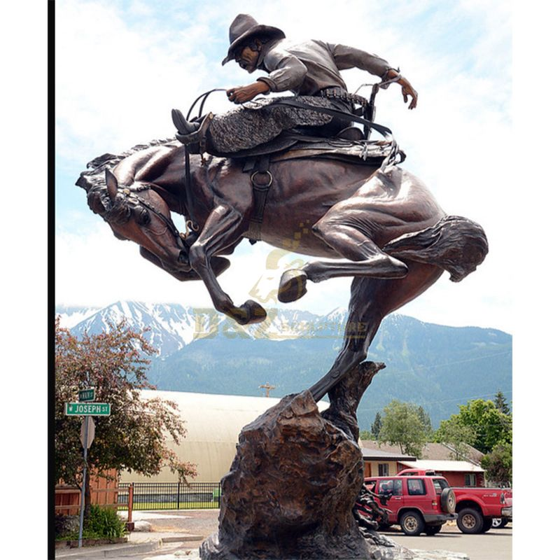 cowboy garden statue City decoration Processing customized cowboy sculpture