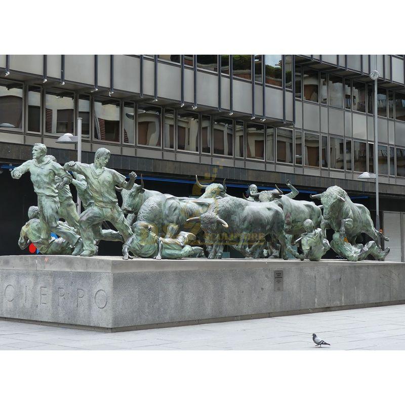 Bronze Wall Street Bull Group Statue Sculpture