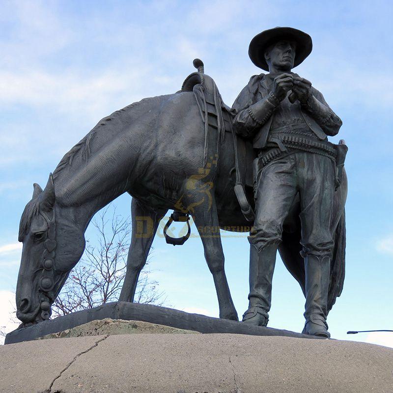 Cowboy Bronze Sculpture For Sale