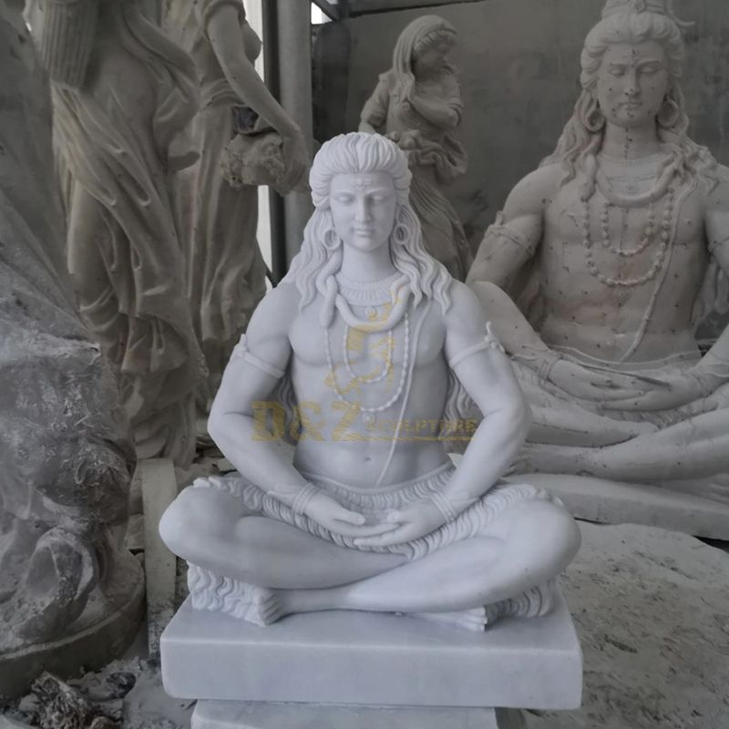 Lifesize Factory Price Indian Hindu God Lord Shiva Stone Marble Statue