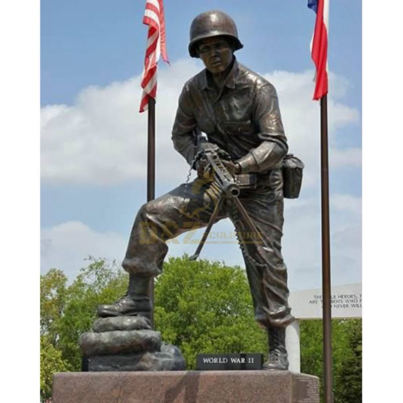 casting bronze self made man solider statue for sale