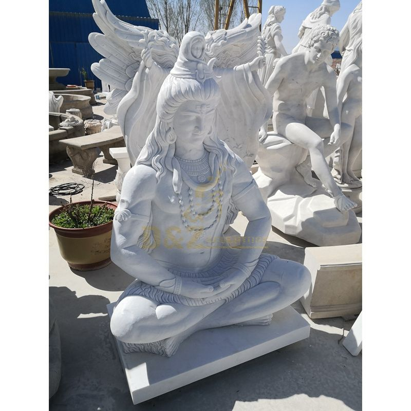 Factory White Marble Indian God Lord Shiva Stone Statue