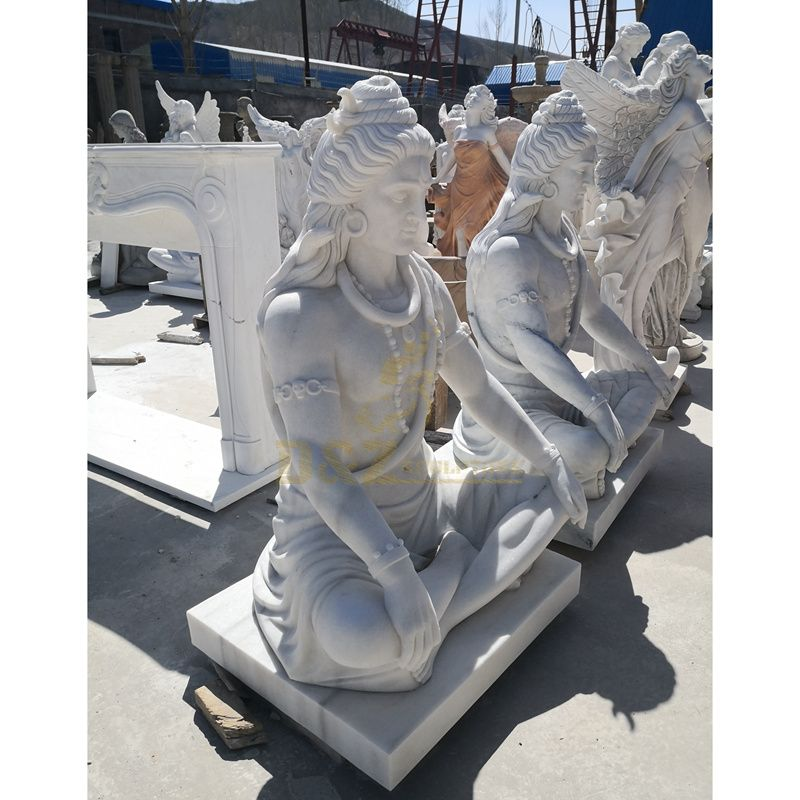 Outdoor Decorative Stone Carvings Marble Statue Of Shiva