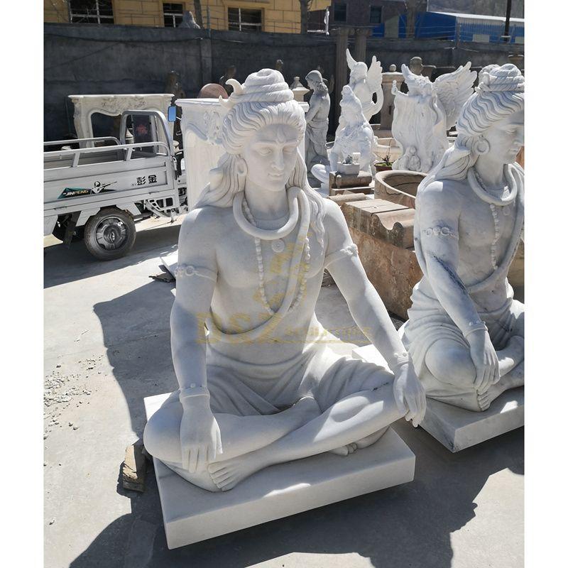 Hindu Indian Idol Stone Carved Marble Shiva Statue