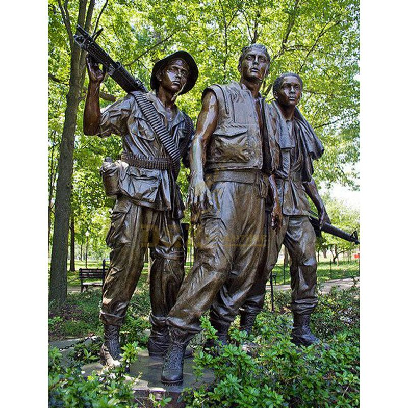Famous Bronze Soldier three man Sculpture for sale