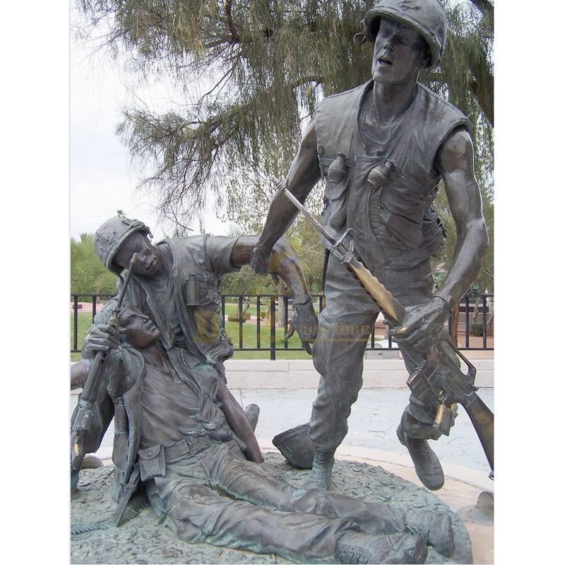 Outdoor Three Soldiers Vietnam Veterans Memorial Bronze Sculpture