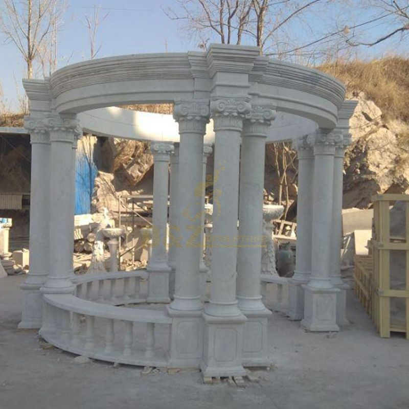 China Manufacturer Marble Garden Gazebo Sculpture Natural Stone Outdoor Gazebo