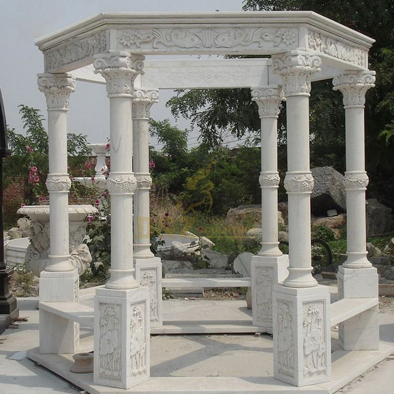 Custom Style Selection Outdoor Stone Garden Marble Gazebo
