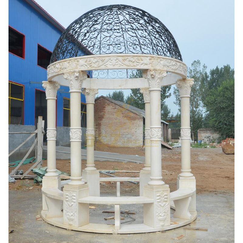 White Marble Garden Gazebo for sale