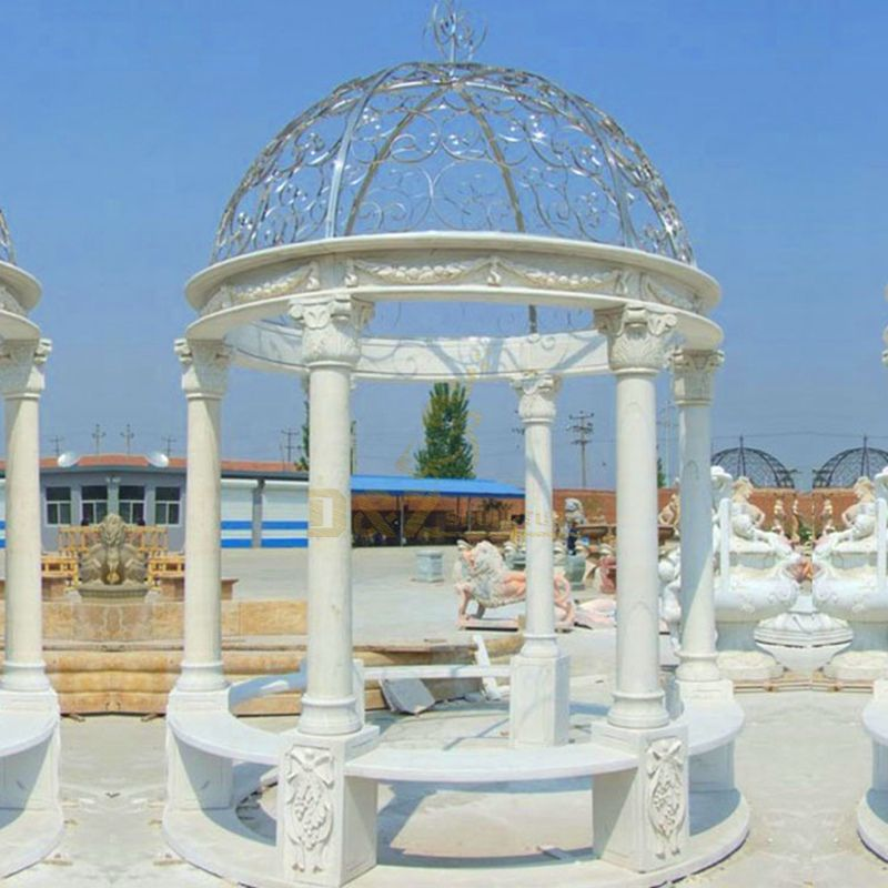 White Marble Garden Gazebo WHOLESALE