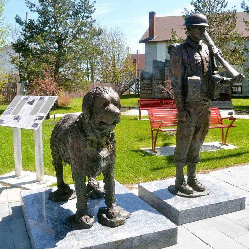 Large Size Fine Cast Solider Bronze Dog Sculpture Park Decor