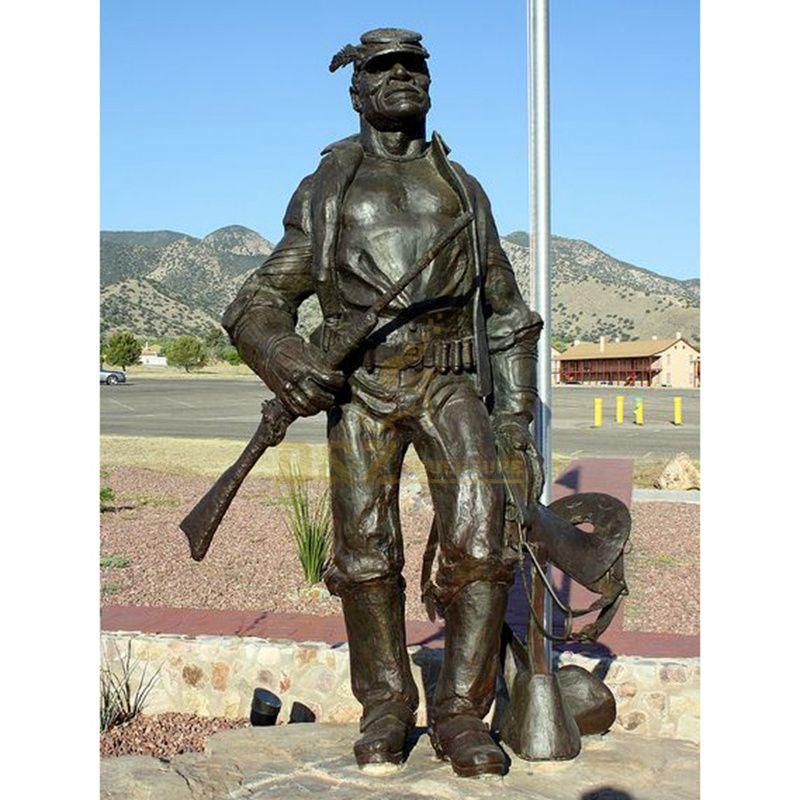 life size warrior soldier bronze military statue