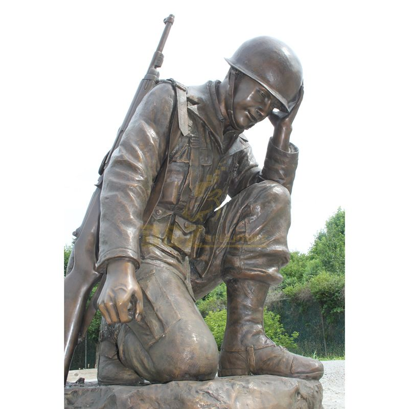 Bronze Military Sculpture Life Size Soldier Statue