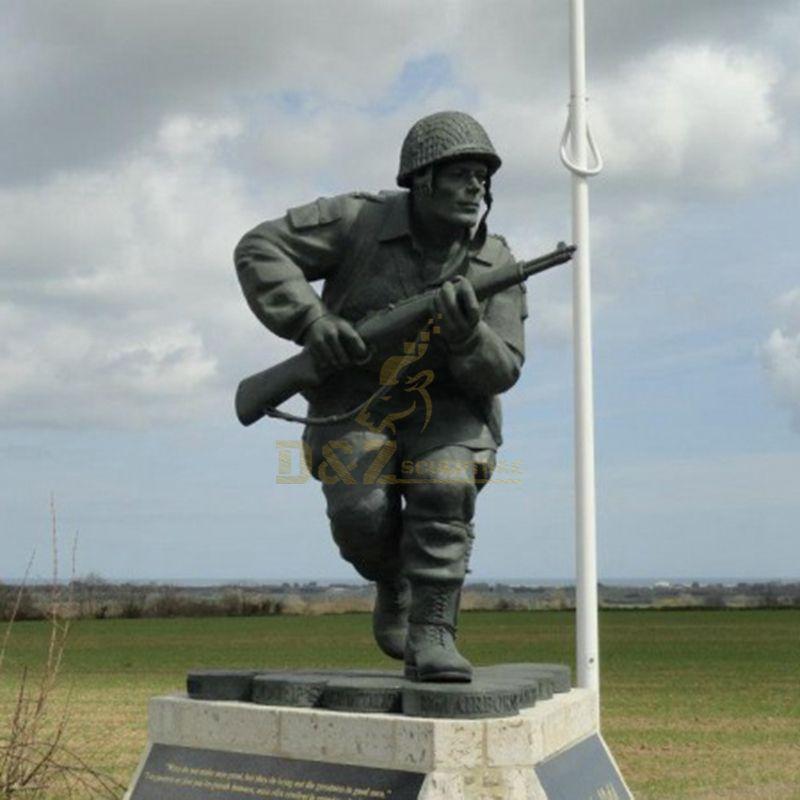 Custom made handmade carved souvenir items bronze soldier statue