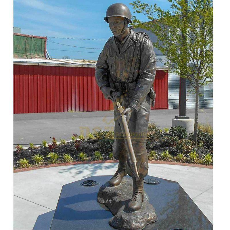 Life size statues roman soldier bronze statue