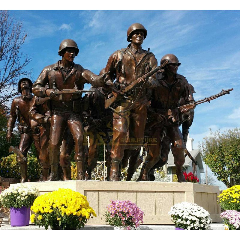 Professional factory Canadian Veterans Memorial bronze soldier statue