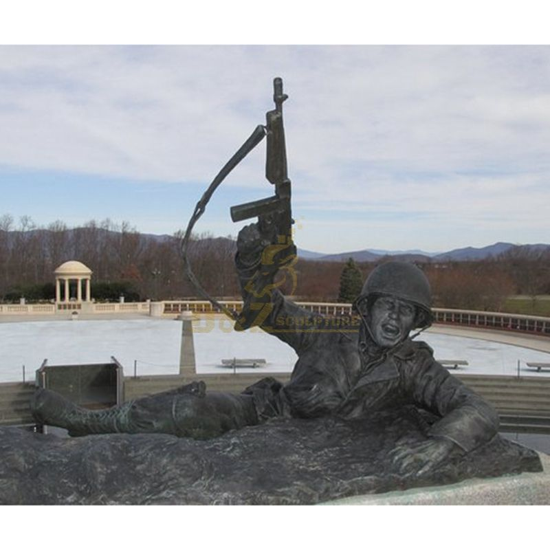 Memorial Bronze Marine Soldier Statue