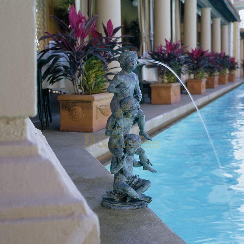 Modern Indoor Gardens Fountains Bronze Sculpture