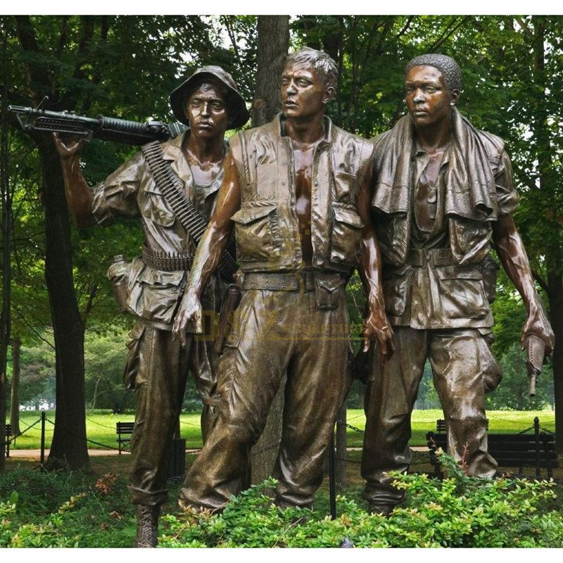 High Quality Wholesale Custom Cheap military memorial bronze soldier statue