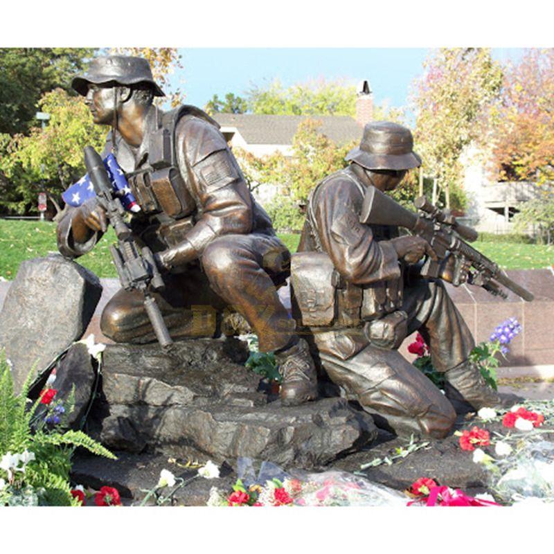 Hot Sale Life Size Bronze Soldier Statue