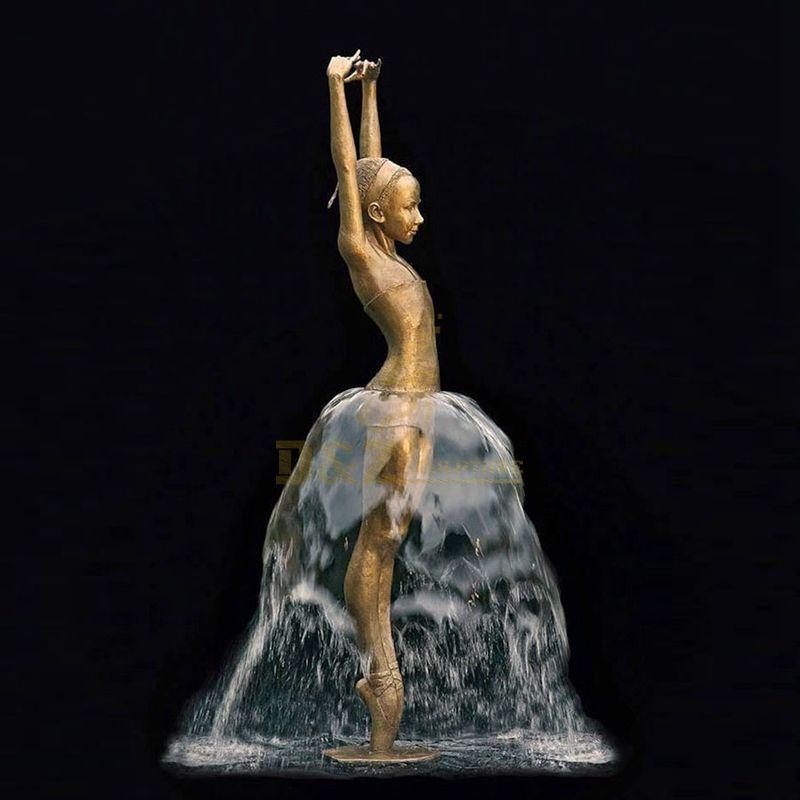 Famous ballet girl outdoor water fountain bronze sculpture