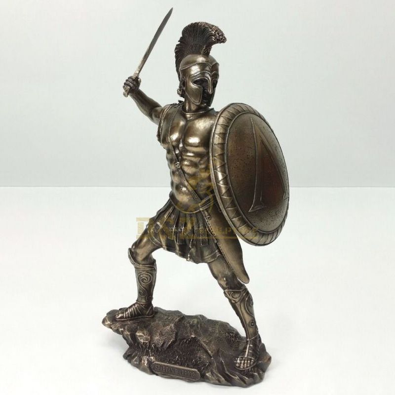 outdoor decor life size metal art casting sparta Warrior