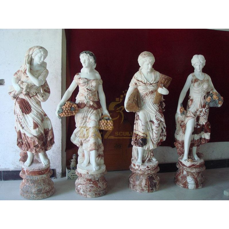Outdoor Home Garden Decor Four Season Goddess Girl Woman Marble Statue