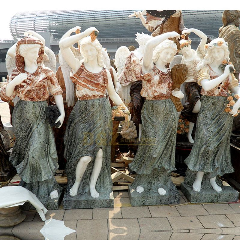 Famous Beautiful Four Seasons Goddess Statues For Garden Decorative