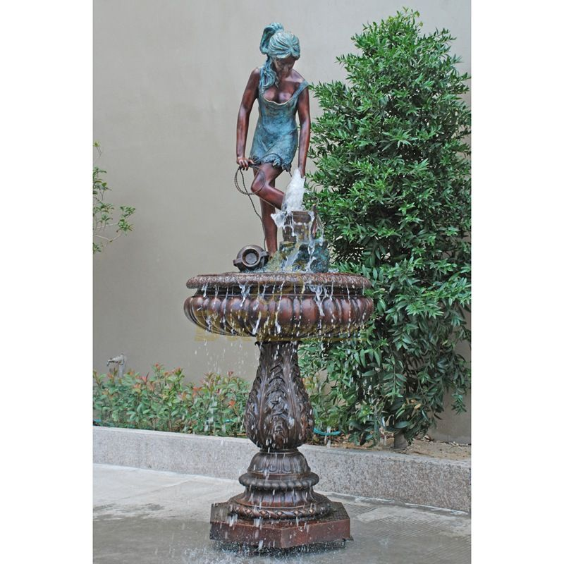 Outdoor bronze large fountain sculpture with statues