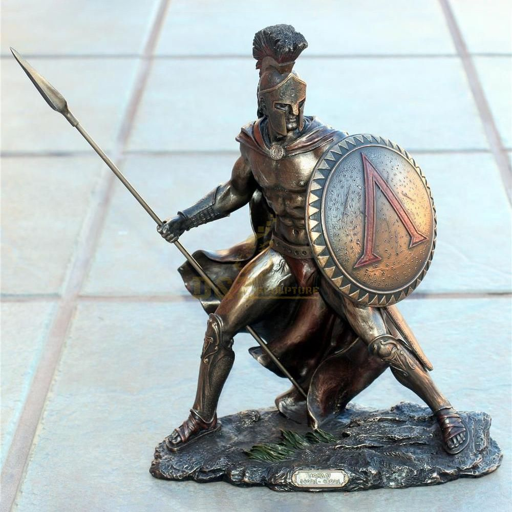 low price antique roman life size bronze man soldier sculpture Sparta warrior statues for sale