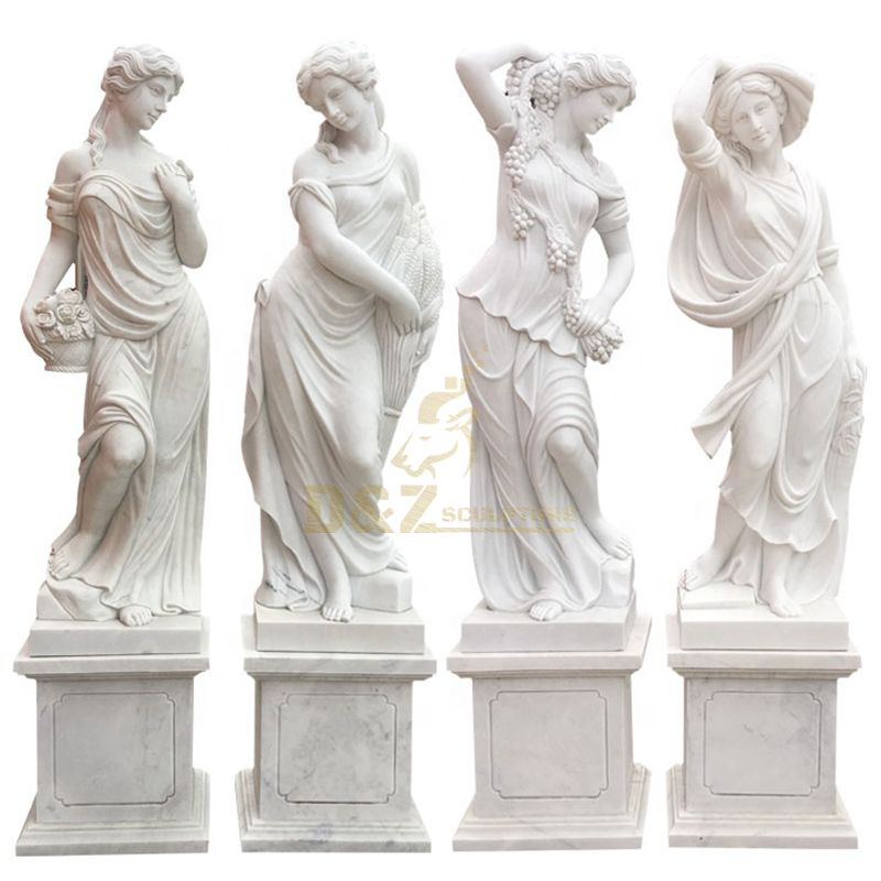 Outdoor Garden Decoravtive Four Season Goddess Marble Statue