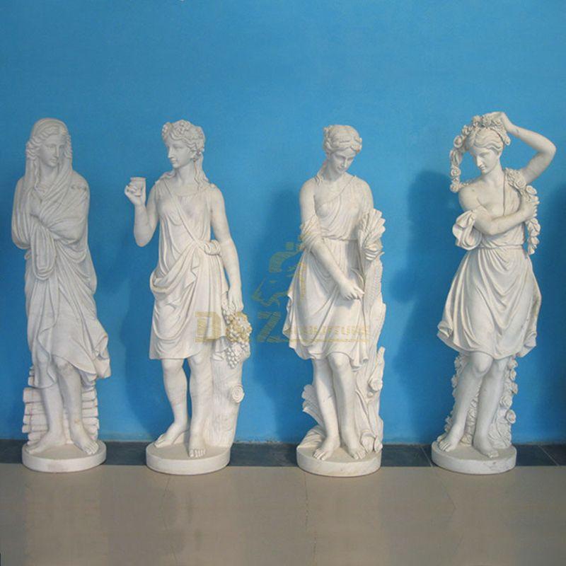 Outdoor Garden Decoravtive Four Season Goddess Marble Statue