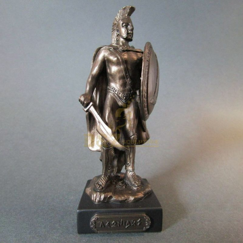 Greek Warrior Of Sparta Bronze Finish Statue