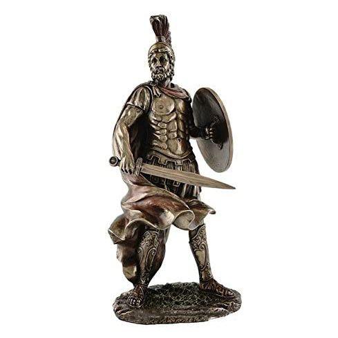 OEM Bronze finished Polyresin Greek Sparta Warrior sculpture