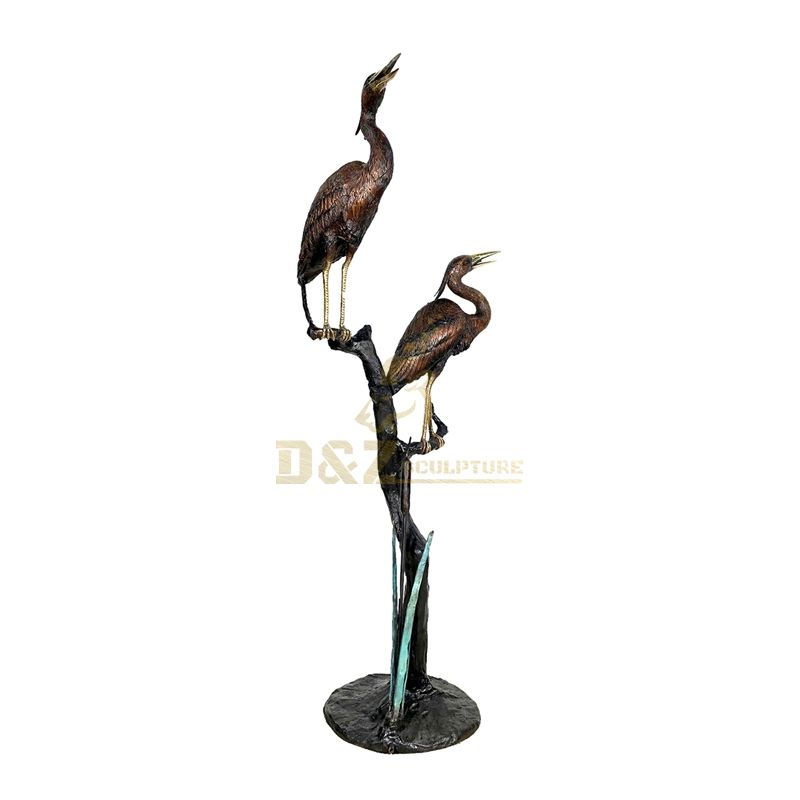 Popular Designs bronze bird water fountain sculpture