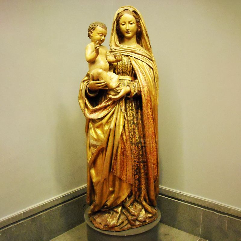Life Size Large Outdoor Decorative Religious Fiberglass Blessed Virgin Mary Statue