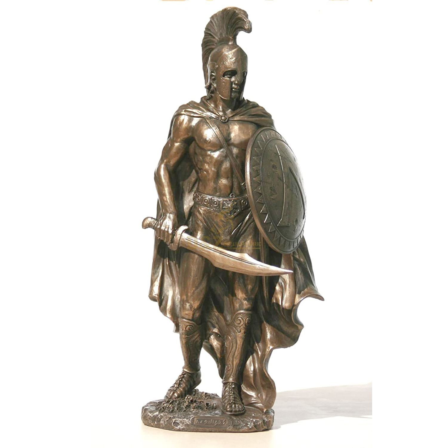 Classic design hand carved Roman warrior sculpture