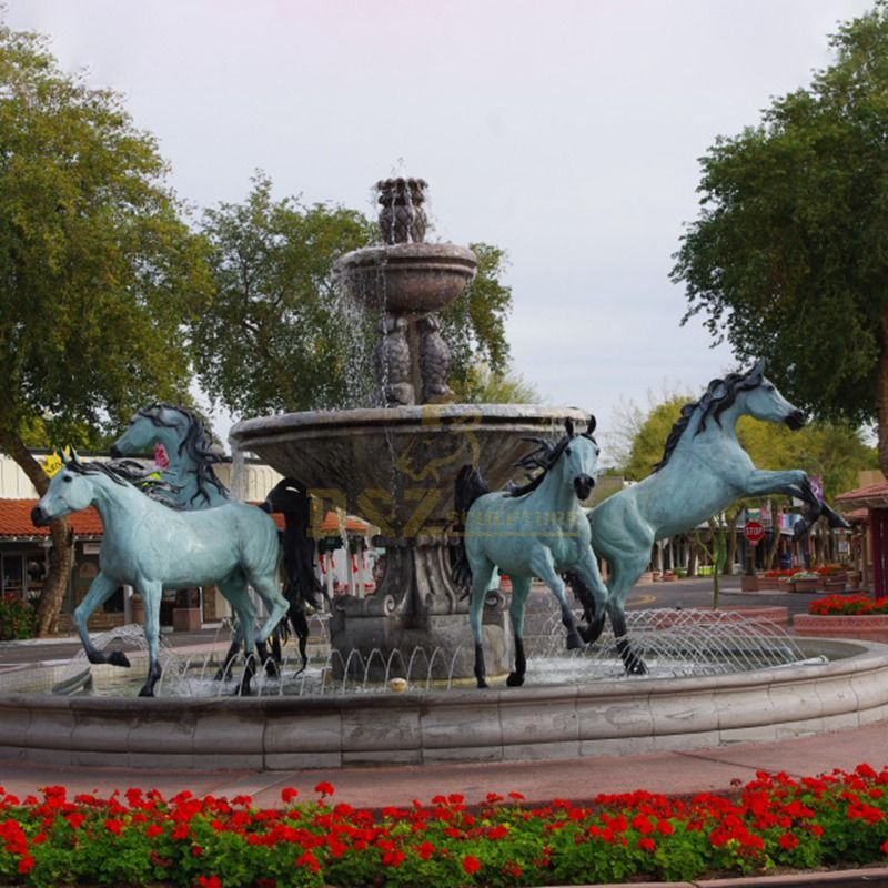 Garden Decorative Bronze Horse Fountain Sculptures for Sale