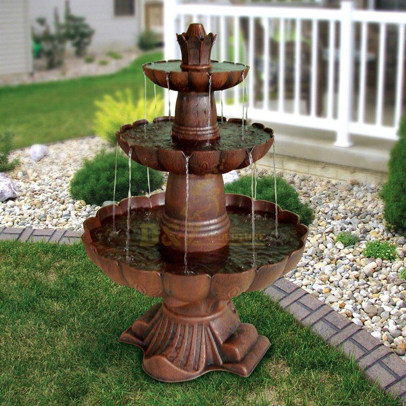 Large garden decor bronze water fountain sculpture