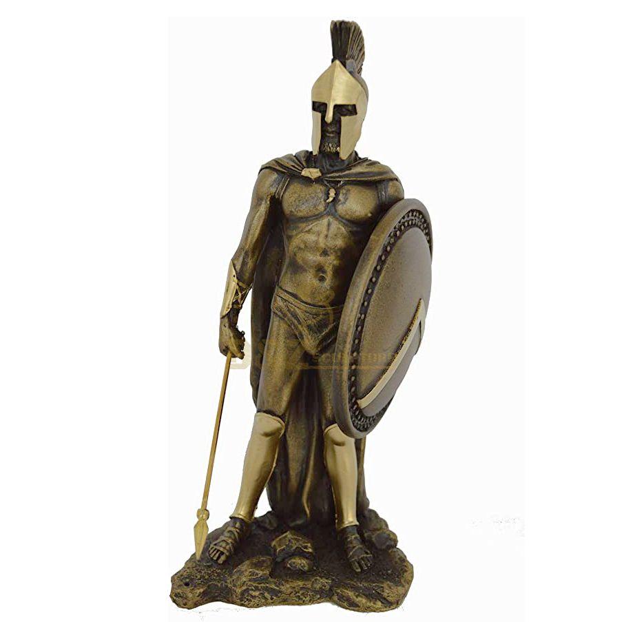 Life size bronze roman partan warrior sculpture for sale