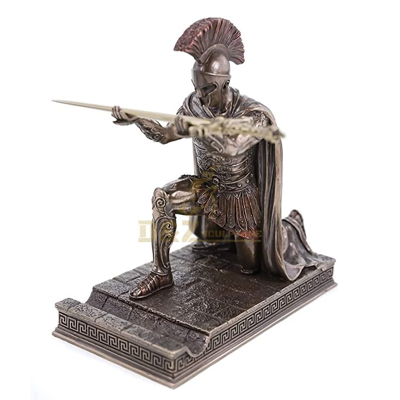 Life Size Casting Bronze Roman Spartan Warrior Sculpture on Sale