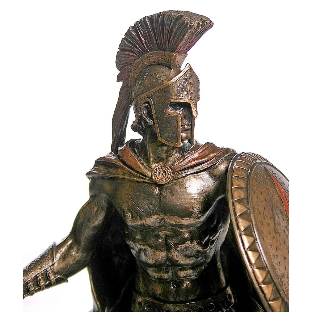 Life Size bronze greek warrior statue sculpture for sale