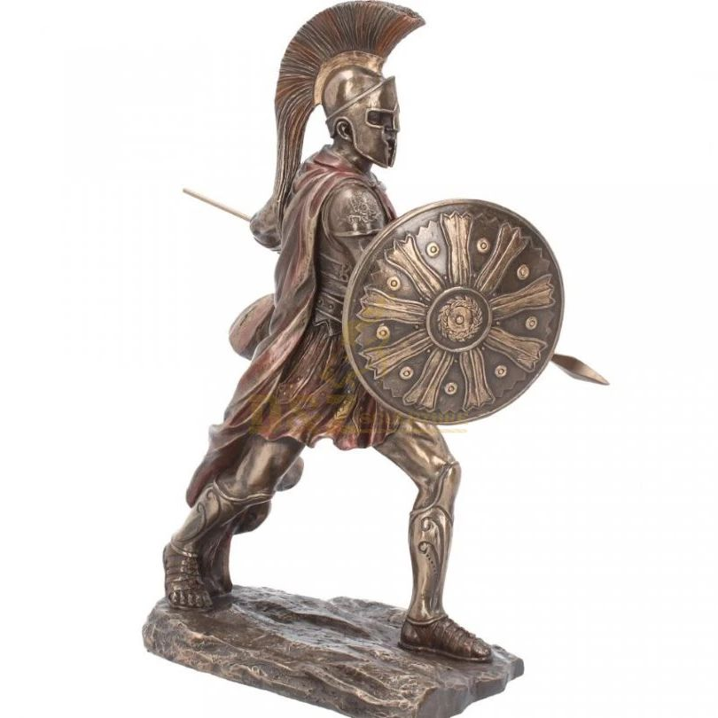 Life-Size Custom Bronze Greek Warrior Statue Sculpture Bronze Spartan Sculpture