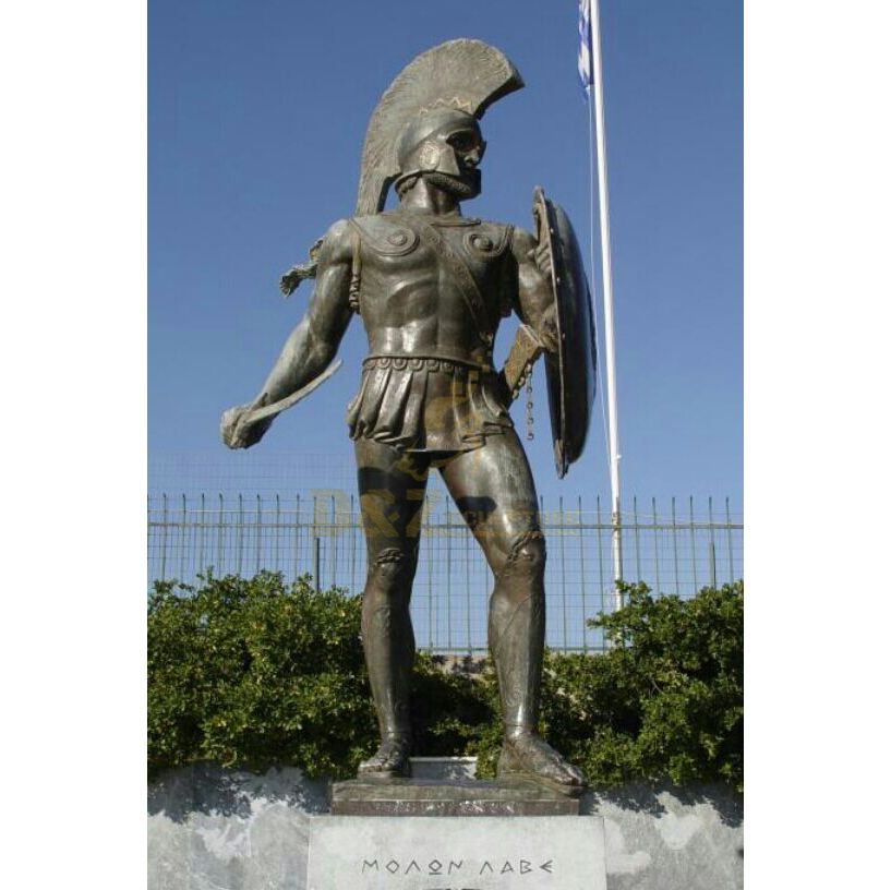 Bronze Greek Warrior Statue Sculpture