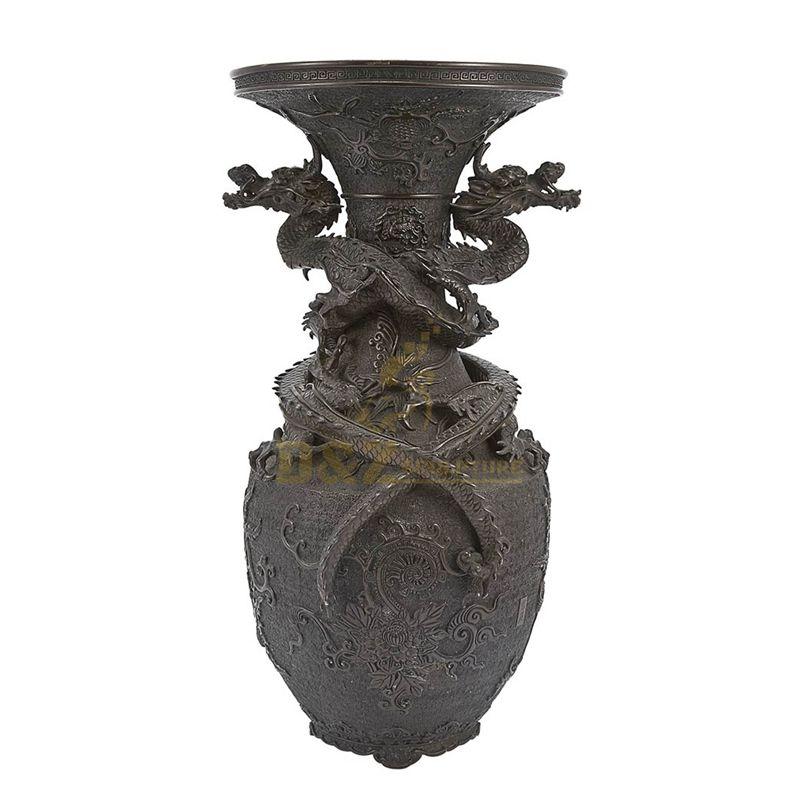 Luxury metal material casting bronze flowerpot scuplture