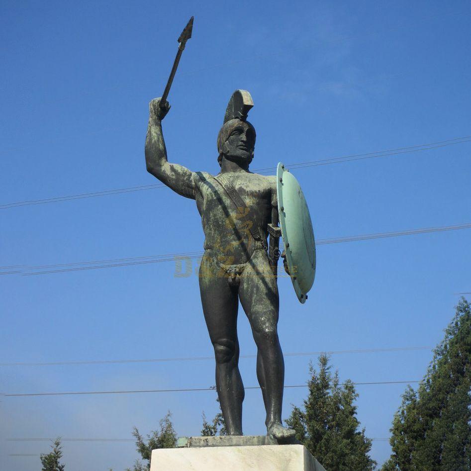 bronze man soldier sculpture Sparta warrior statues for sale