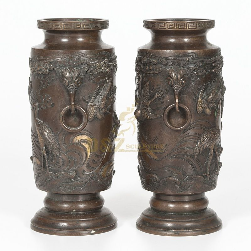 Home decor outdoor bronze garden flowerpots for sale