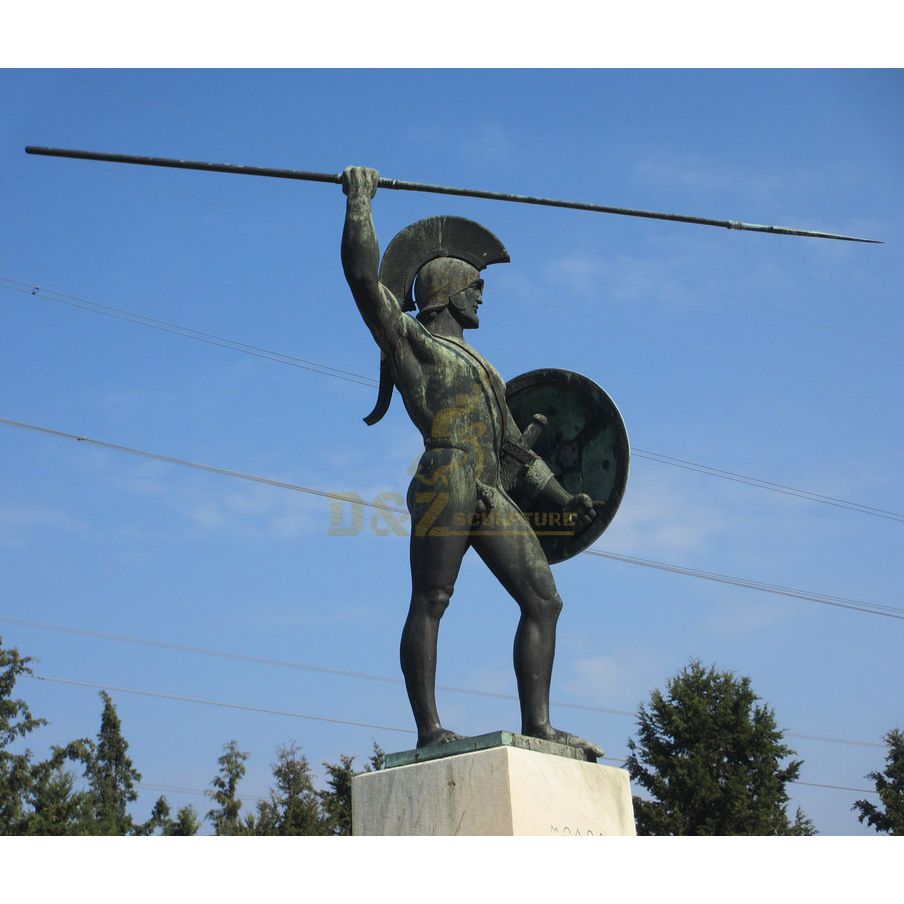 Metal Cast Imitation Bronze Warrior Statue of Sparta