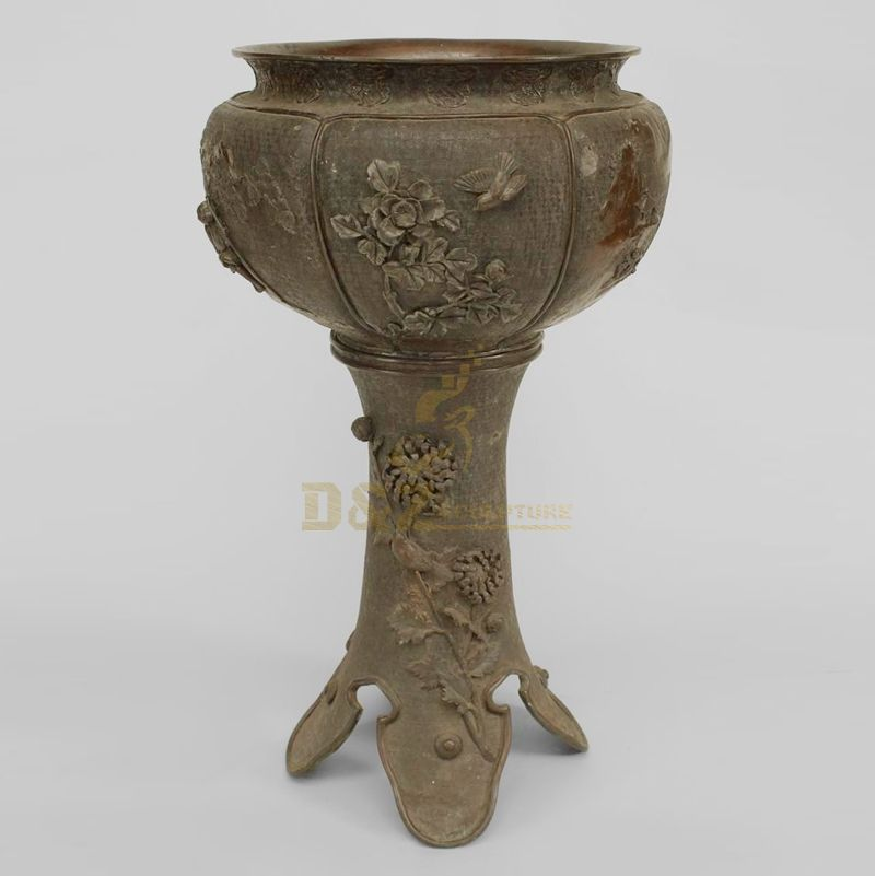 Brass folwerpot for garden decoration hot sale