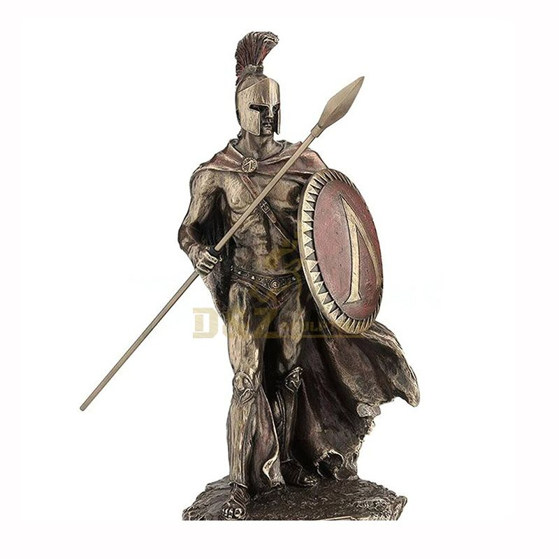 bronze roman soldiers statue with spear